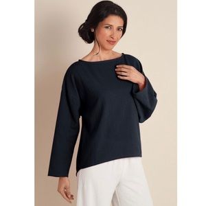 Soft Surroundings Gauze Long Sleeve Tunic Top